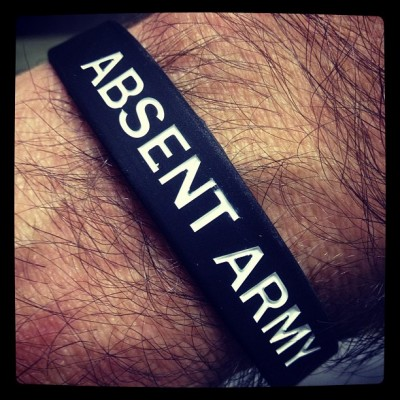 Absent Army Wristband